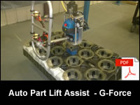 Automotive Component Lift Assist - Zero Gravity G-Force