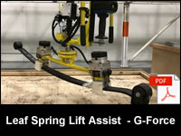 Leaf Spring Lift Assist - G-Force Easy Arm